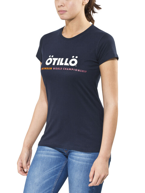 ÖTILLÖ Peach T-Shirt Women Navy
